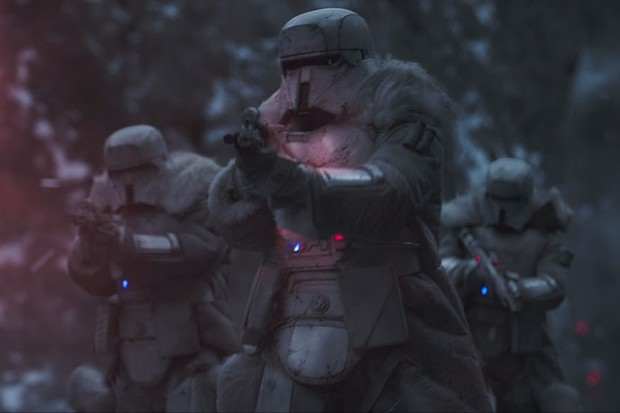 Range troopers in Solo: A Star Wars story (Lucasfilm, HF)