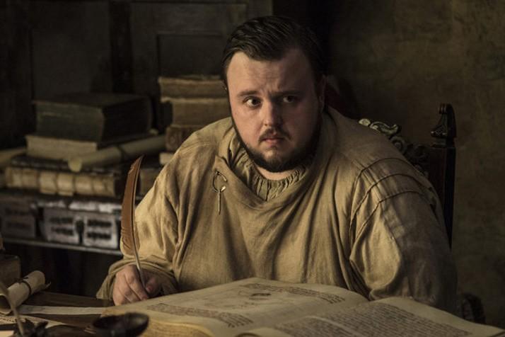 John Bradley as Samwell Tarly in Game of Thrones (HBO, HF)