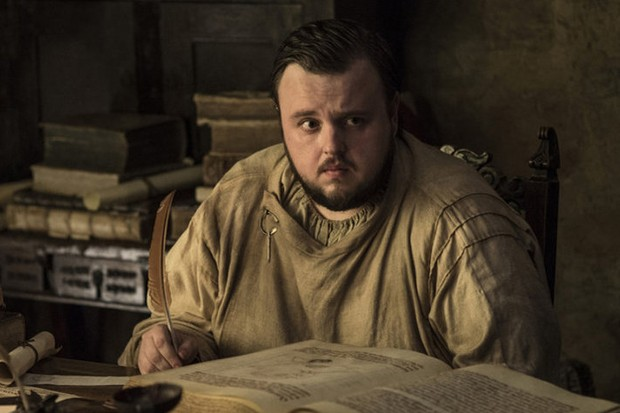 John Bradley as Samwell Tarly in Game of Thrones (HBO, HF)