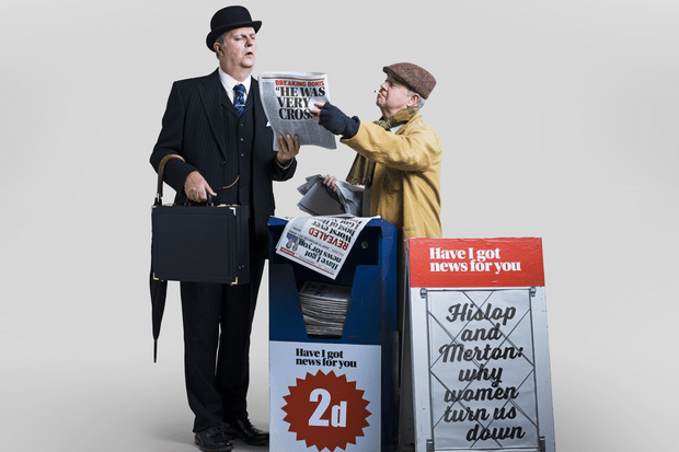 Paul Merton and Ian Hislop, Have I Got News for You (RT shoot by Sven Arnstein, EH)