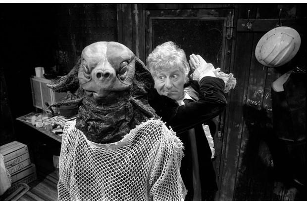Jon Pertwee's Doctor vs a Sea Devil (BBC)