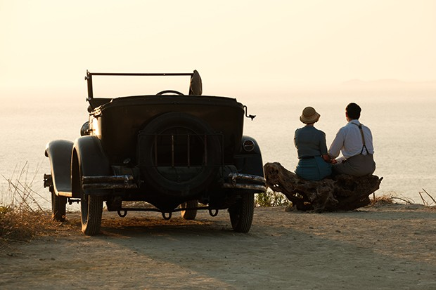 The Durrells - Spiro and Louisa and car