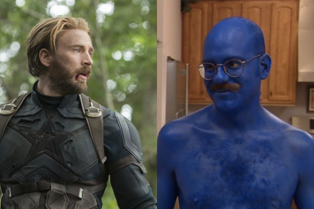 Chris Evans as Captain America and David Cross as Tobias Fünke ( Marvel, Netflix, HF)