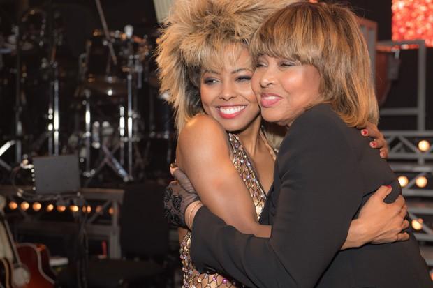 Adrienne Warren and Tina Turner at the premiere (photo: Craig Sugden)