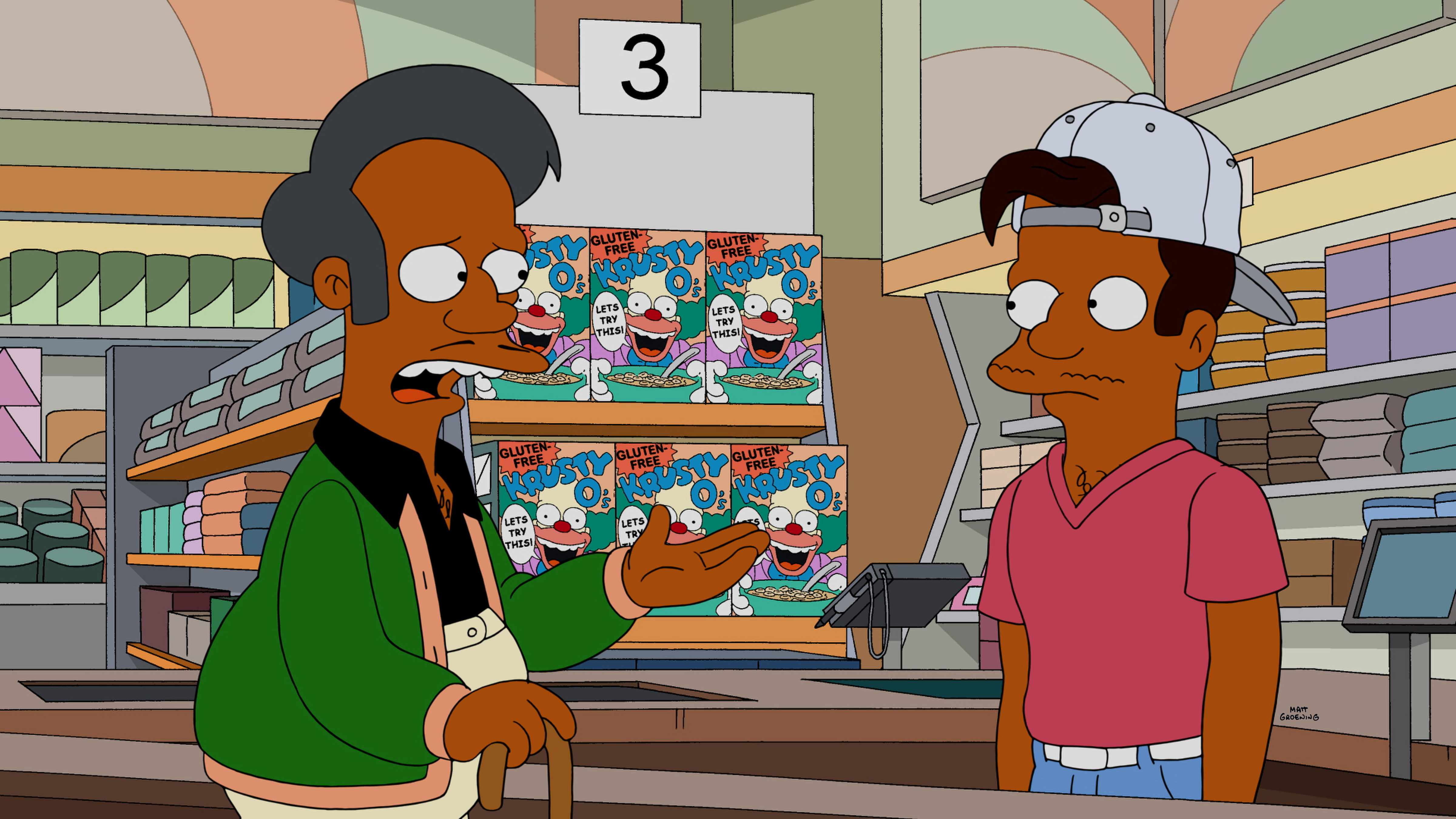 """Apu and his nephew Jay in """"Much Apu About Something.""""  Fox, sky pics, TL"""