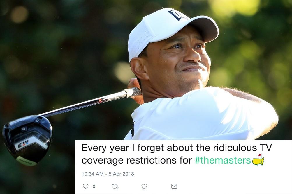 Tiger Woods Masters 2018 TV coverage tweet