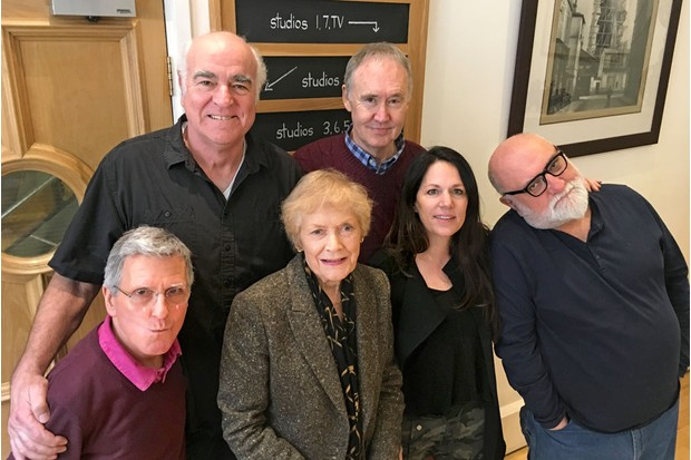 Christopher Ryan, Stephen Frost, Sue MacGregor, Nigel Planer, Lise Mayer and Alexei Sayle