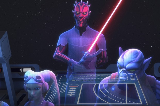 A scene from Star Wars Rebels (Lucasfilm, Sky, HF)