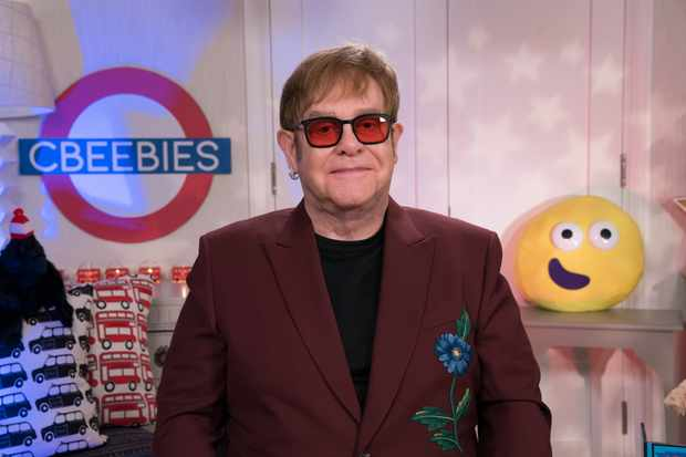 Programme Name: CBeebies Bedtime Stories - TX: n/a - Episode: Elton John (No. n/a) - Picture Shows:  Sir Elton John - (C) BBC  - Photographer: Pete Dadds  BBC, TL
