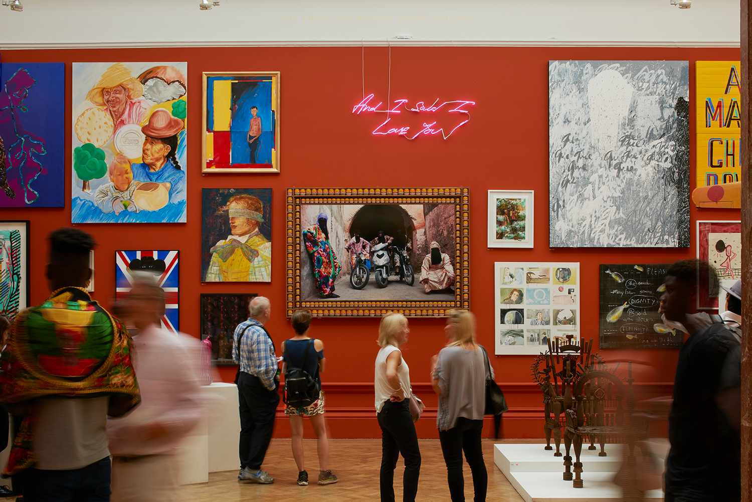 Installation view of the 2017 Summer Exhibition, 13 June – 20 August at the Royal Academy of Arts, London  Photo © James Harris