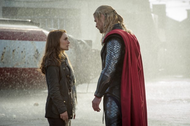 Thor and Jane in Thor: The Dark World