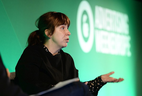 LONDON, ENGLAND - APRIL 18:  Abi Morgan, Playwright & Screenwriter speaks during The Art of Storytelling discussion at Advertising Week Europe 2016 at Picturehouse Central on April 18, 2016 in London, England.  (Photo by Jeff Spicer/Getty Images for Advertising Week Europe)