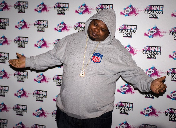 LONDON, ENGLAND - FEBRUARY 14:  Big Narstie attends the VO5 NME Awards held at Brixton Academy on February 14, 2018 in London, England.  (Photo by Robin Little/Getty Images)