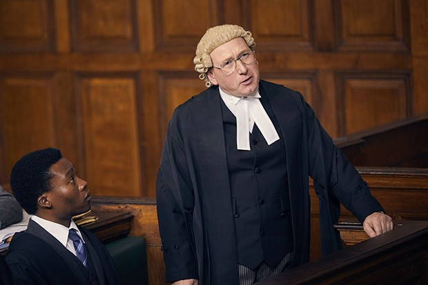 Adrian Scarborough plays George Carman QC in A Very English Scandal