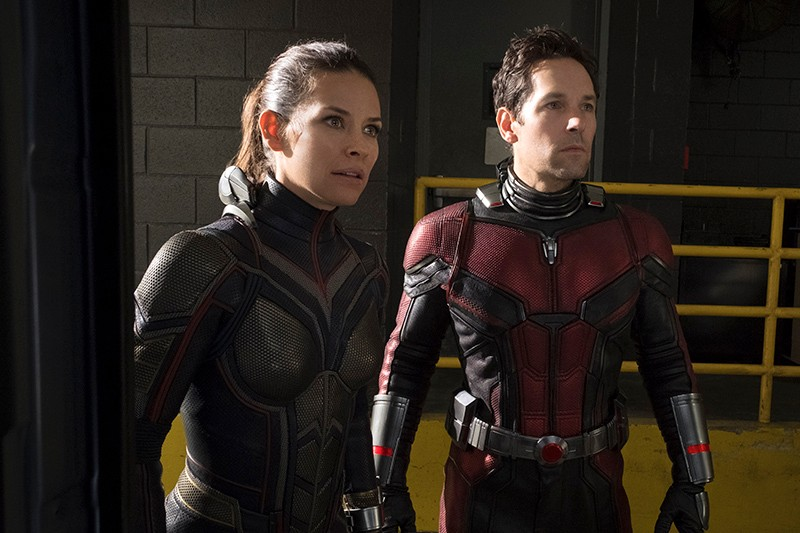 Evangeline Lilly and Paul Rudd as the Wasp and Ant-Man