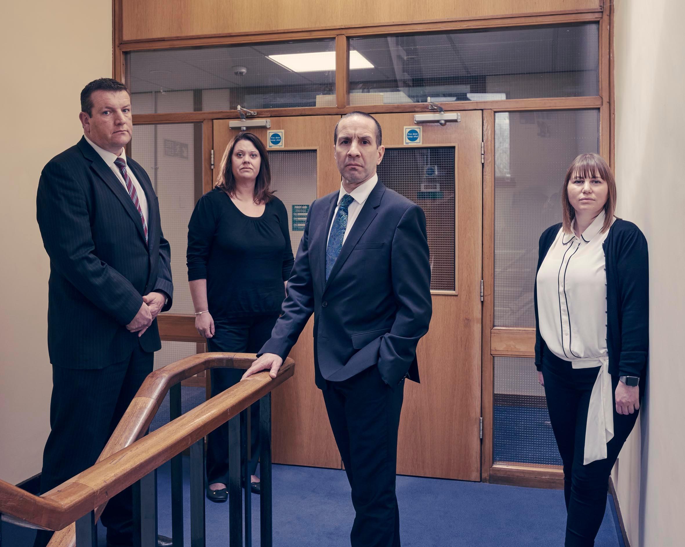 Deputy Stuart Blaik, Natalie Howard- Family Liaison Officer, Senior Investigating Officer Andy Shearwood and Steph Mason- Family Liaison Officer (Channel 4 images)