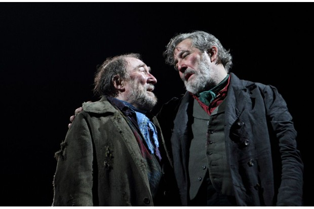Dermot Crowley and Ciarán Hinds in Translations (photos: Catherine Asmore)