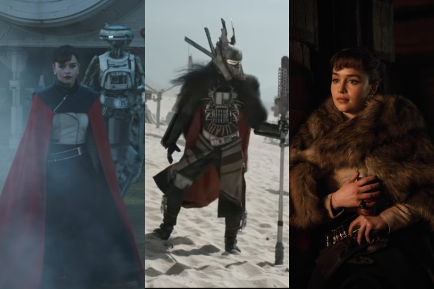 Emilia Clarke's Q'ira with Enfys Nest in Solo: A Star Wars story (LucasFilm, HF)
