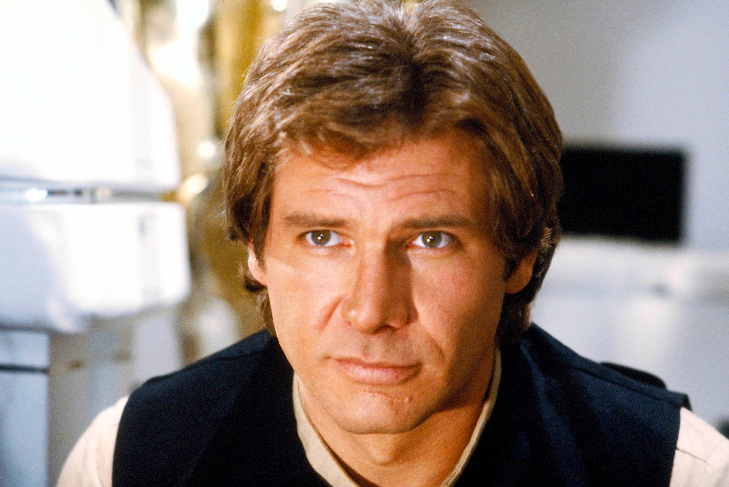 Star Wars Episode VI Return Of The Jedi starring Harrison Ford as Han Solo Lucas Films, Sky pics, TL