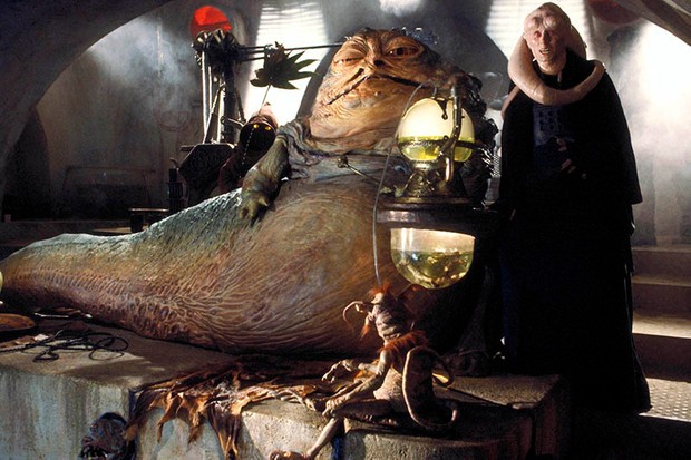 Jabba the Hutt in Star Wars Episode VI: Return Of The Jedi (LucasFilm, Sky, HF)