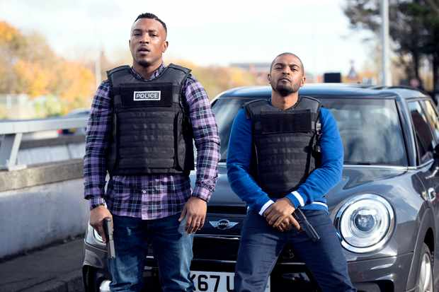 Ashley Walters and Noel Clarke in Bulletproof (Sky, EH)