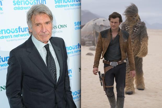 Harrison Ford and Alden Ehrenreich (Getty, LucasFilm, HF)