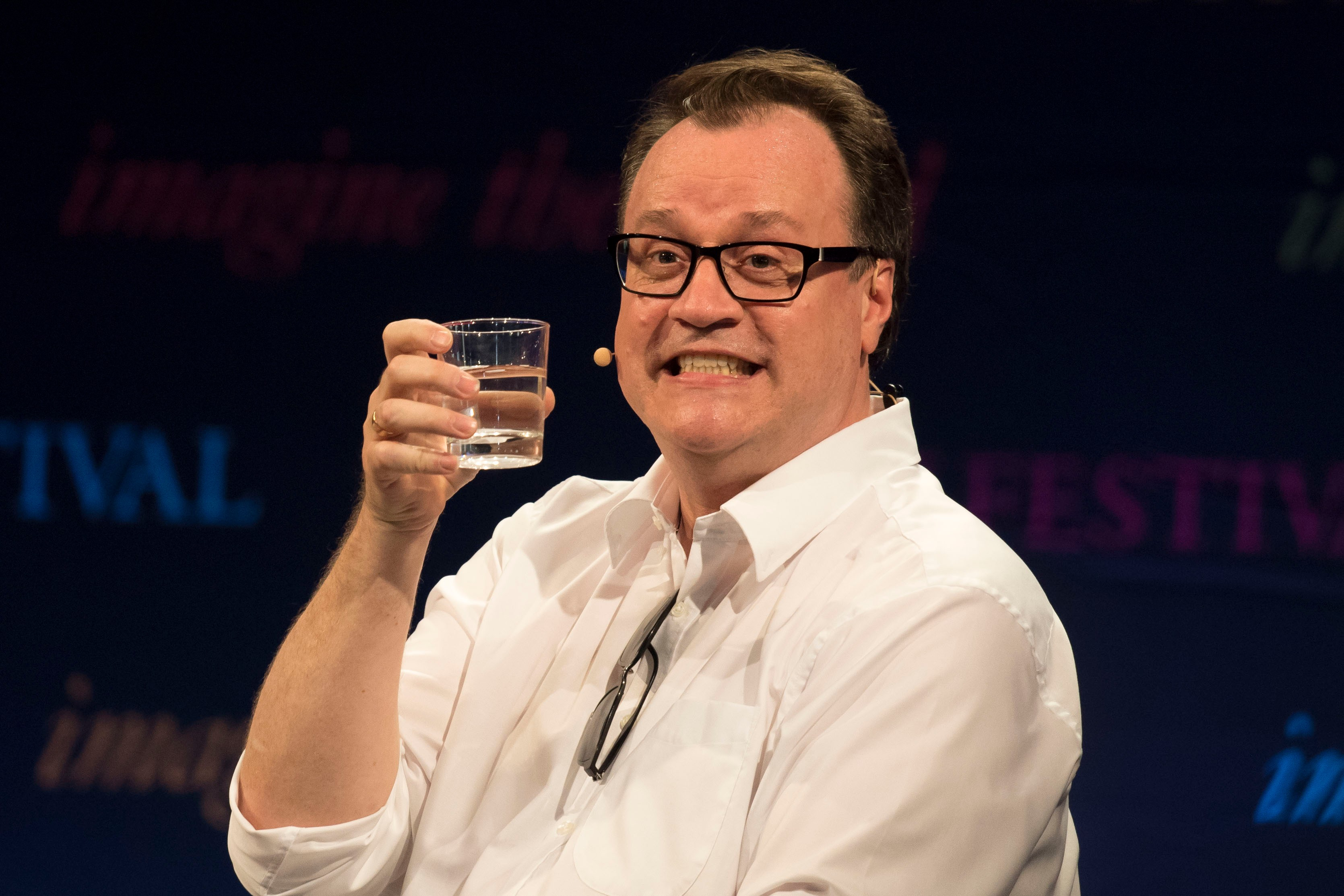 HAY-ON-WYE, WALES - MAY 29:  Russell T Davies, Welsh television producer and screenwriter whose work includes the 2005 revival of Doctor Who, during the 2016 Hay Festival on May 29, 2016 in Hay-on-Wye, Wales. The Hay Festival is an annual festival of literature and arts now in its 29th year.  (Photo by Matthew Horwood/Getty Images)  TL