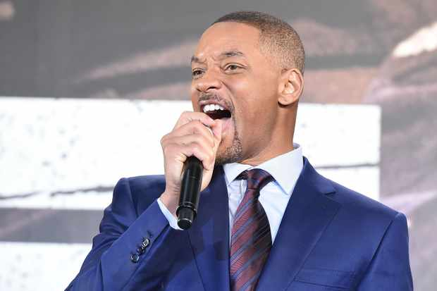 TOKYO, JAPAN - DECEMBER 19:  Will Smith attends the premier event of 'Bright' at Roppongi Hills on December 19, 2017 in Tokyo, Japan.  (Photo by Jun Sato/WireImage)  Getty, TL