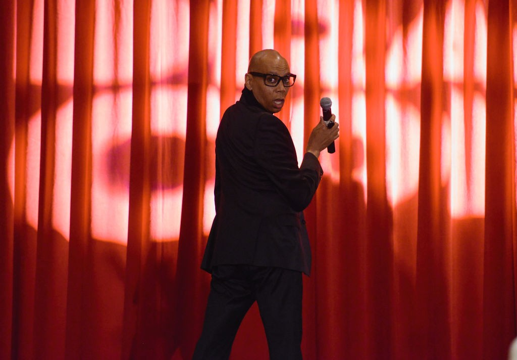 LOS ANGELES, CA - MAY 13:  RuPaul speaks at 4th Annual RuPaul's DragCon at Los Angeles Convention Center on May 13, 2018 in Los Angeles, California.  (Photo by Chelsea Guglielmino/Getty Images)