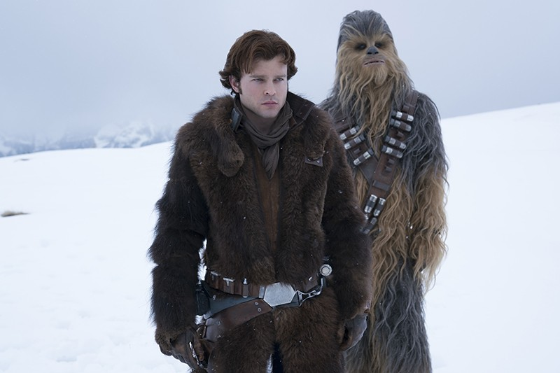 Alden Ehrenreich is Han Solo and Joonas Suotamo is Chewbacca in SOLO: A STAR WARS STORY (LucasFilm, HF)