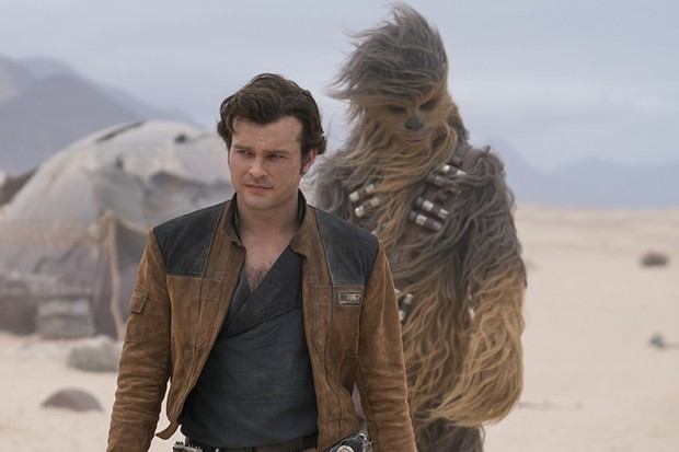 Alden Ehrenreich is Han Solo and Joonas Suotamo is Chewbacca in SOLO: A STAR WARS STORY (Disney, HF)
