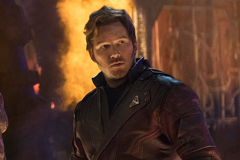 Chris Pratt as Star-Lord in Avengers: Infinity War (Marvel, HF)
