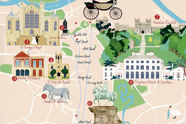 Royal Wedding Route Map Follow Prince Harry And Meghan Markle S