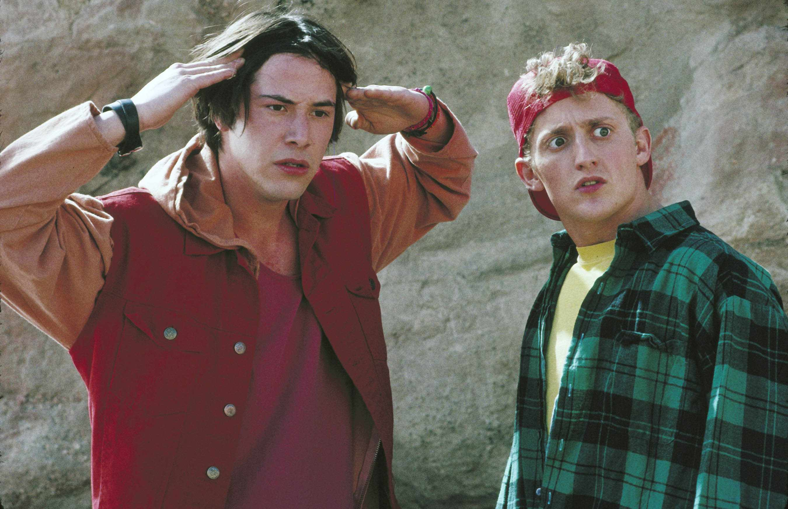 Keanu Reeves and Alex Winter, Bill and Ted's Bogus Journey (Sky, EH)