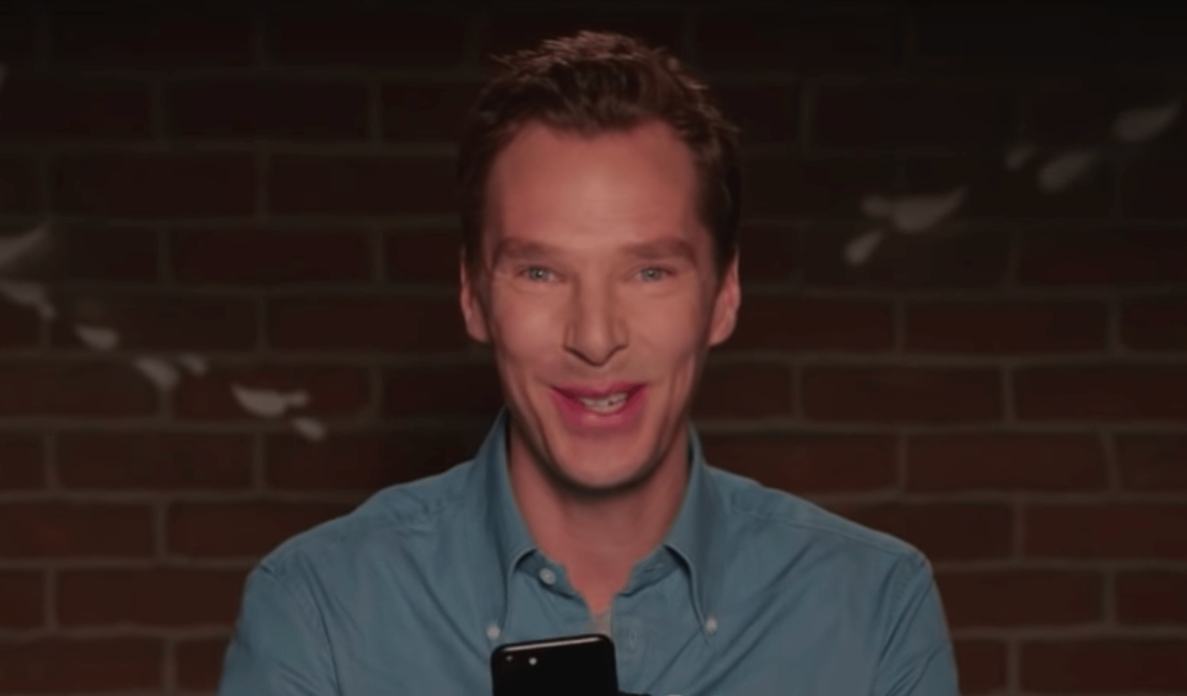 Benedict Cumberbatch (Mean Tweets screenshot, EH)
