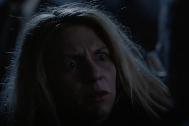 Claire Danes in Homeland (Channel 4 screenshot, EH)