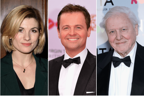 Jodie Whittaker, Declan Donnelly, David Attenborough (Getty, EH)
