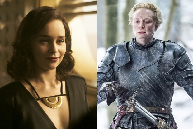 Emilia Clarke in Solo: A Star Wars story and Gwendoline Christie in Game of Thrones (LucasFilm, HBO, HF)