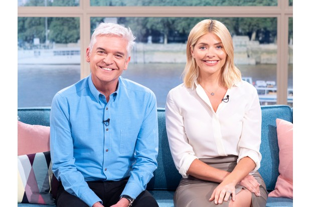 FROM ITV DAYTIME THIS MORNING Weekdays on ITV Pictured: Phillip Schofield and Holly Willoughby 'This Morning' TV show, London, UK - 16 Apr 2018 © ITV Photographer Ken McKay For further information please contact Peter Gray 0207 157 3046 peter.gray@itv.com This photograph is © ITV and can only be reproduced for editorial purposes directly in connection with the programme THIS MORNING or ITV. Once made available by the ITV Picture Desk, this photograph can be reproduced once only up until the Transmission date and no reproduction fee will be charged. Any subsequent usage may incur a fee. This photograph must not be syndicated to any other publication or website, or permanently archived, without the express written permission of ITV Picture Desk. Full Terms and conditions are available on the website www.itvpictures.com