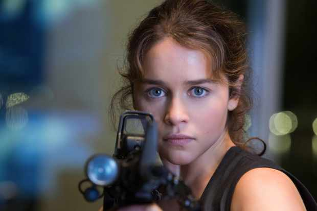 Emilia Clarke plays Sarah Connor in TERMINATOR GENISYS from Paramount Pictures and Skydance Productions.  Sky pics, TL