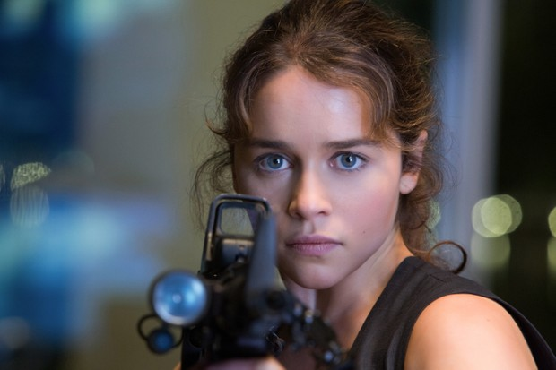 Emilia Clarke plays Sarah Connor in TERMINATOR GENISYS from Paramount Pictures and Skydance Productions.Sky pics, TL