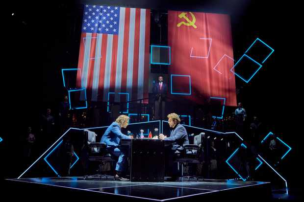 Tim Howar and Michael Ball in Chess the Musical