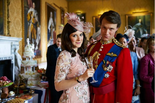 William (Hugh Skinner) and Kate (Louise Ford) in Channel 4's The Windsors (Channel 4)