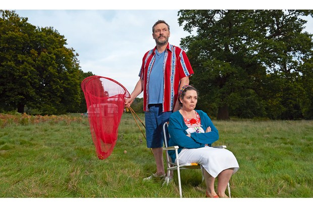 Julian Barratt as Maurice, with Olivia Colman