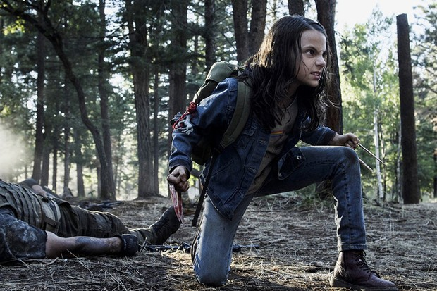 Dafne Keen as Laura Kinney/X-23 in Logan (20th Century Fox, HF)