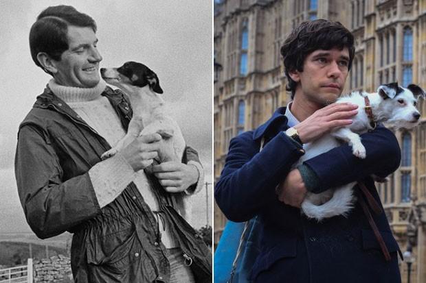Norman Scott and Ben Whishaw, Getty and BBC Pictures, SL