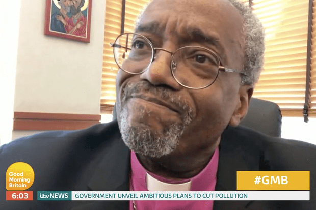 Michael Curry on GMB (ITV email, EH)