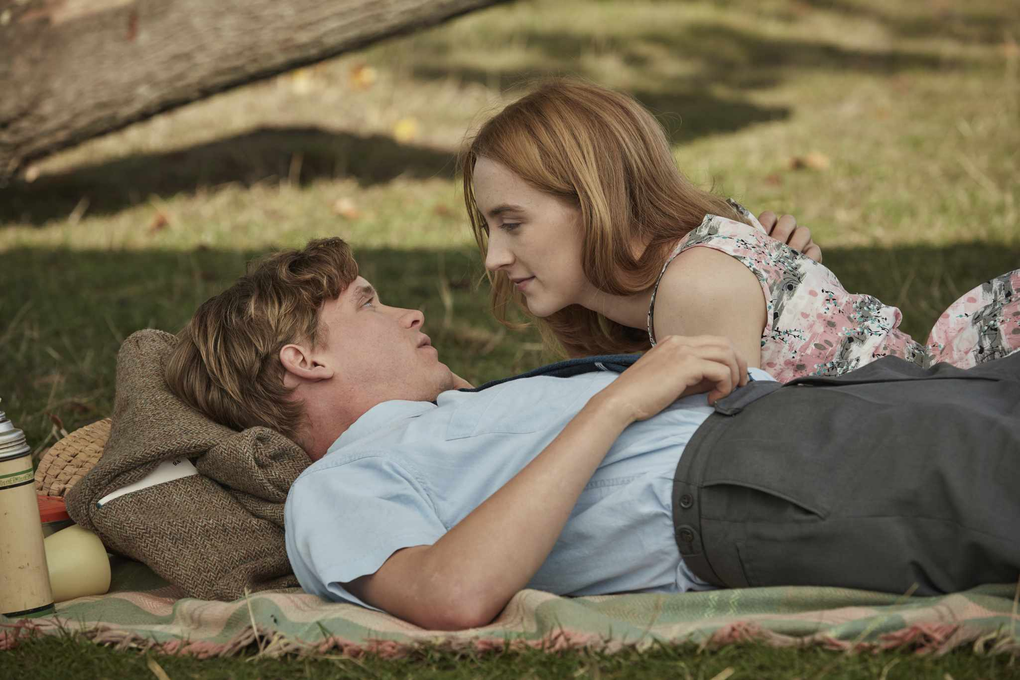 Billy Howle and Saoirse Ronan in On Chesil Beach (Substance Global PR, EH)