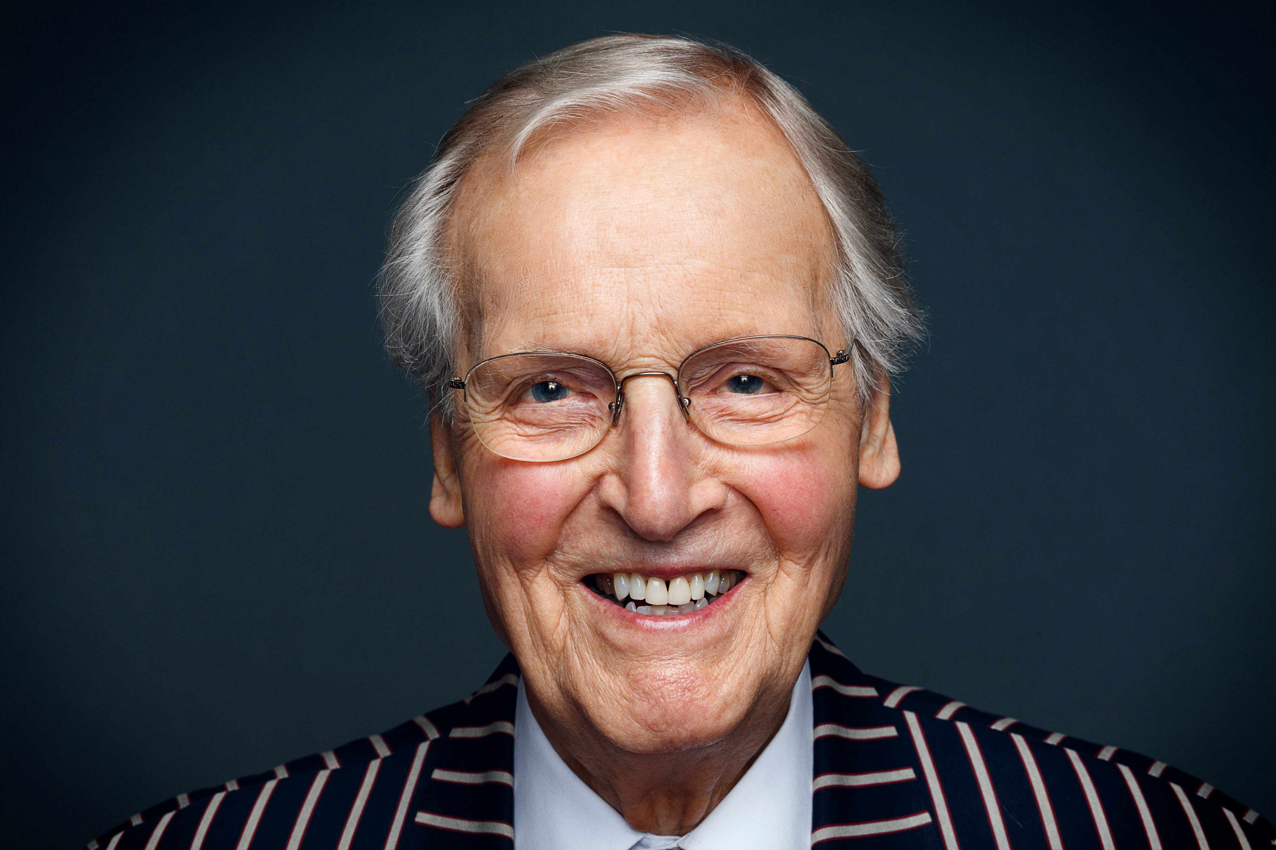 WARNING: Embargoed for publication until 20:00:01 on 22/11/2017 - Programme Name: Just A Minute - 50th Anniversary - TX: n/a - Episode: Just A Minute - 50th Anniversary (No. 1) - Picture Shows:  Nicholas Parsons - (C) BBC Studios - Photographer: Charlie Clift  BBC, TL