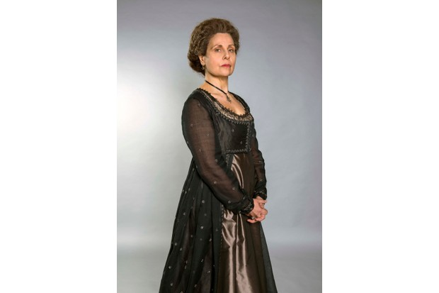 Programme Name: Poldark - Series 4 - TX: n/a - Episode: Poldark S4 - Portraits (No. n/a) - Picture Shows: Lady Whitworth (REBECCA FRONT) - (C) Mammoth Screen - Photographer: Mike Hogan